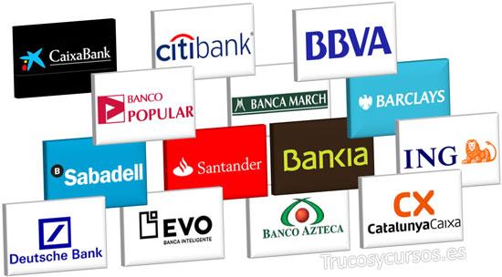 Dígito de Control de la entidad bancaria en Excel. Logotipos