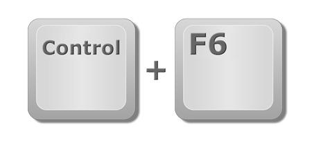 Trabajar con varios libros Excel: Tecla de Control y F6 del teclado.
