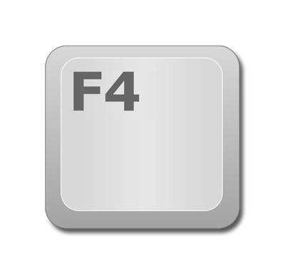 """Repetir la última acción realizada en Excel: Tecla """"F4"""" del teclado."""