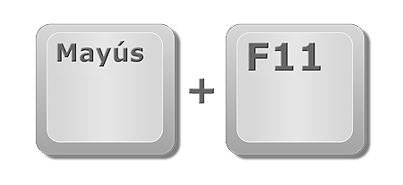 Insertar nueva hoja Excel: Tecla de mayúscula y F11 del teclado.