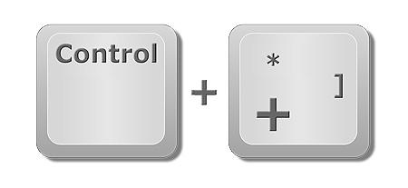 """Insertar o eliminar filas en Excel: Tecla """"Control"""" y """"+"""" para insertar nueva fila."""