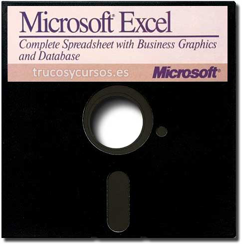 Excel para apple Macintosh en disquete 5'25.