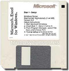 Excel 3.0 para Windows en disquete 3,5.