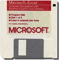 Excel para apple Macintosh en disquete 3,5.