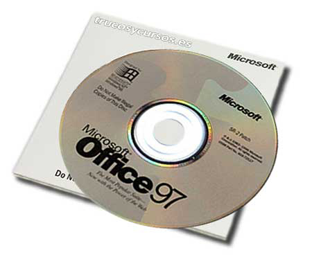Microsoft Office 97 para Windows, soporte CD
