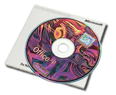 Microsoft Office 2002 para Windows, soporte CD