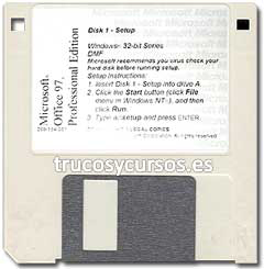 Office 97 para Windows en disquete 3,5 (3½-pulgadas)