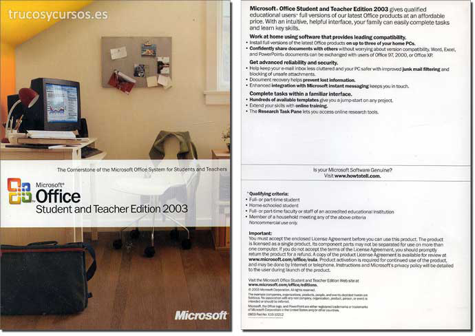 Microsoft Office 2003 (Profesional)
