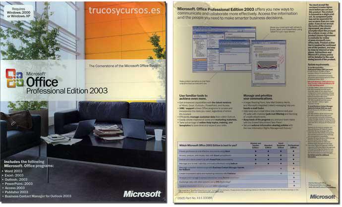Microsoft Office 2003 (Estudiante)
