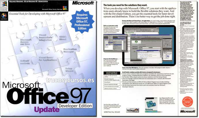 Microsoft Office 97 actualización (Developer)