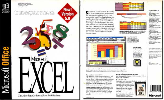 Excel 5.0 icono de Microsoft Excel v.5