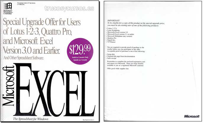 Microsoft Excel v.4 (actualización)