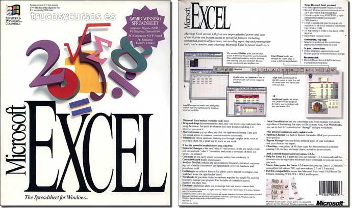 Excel 4.0: Icono Microsoft Excel v.4