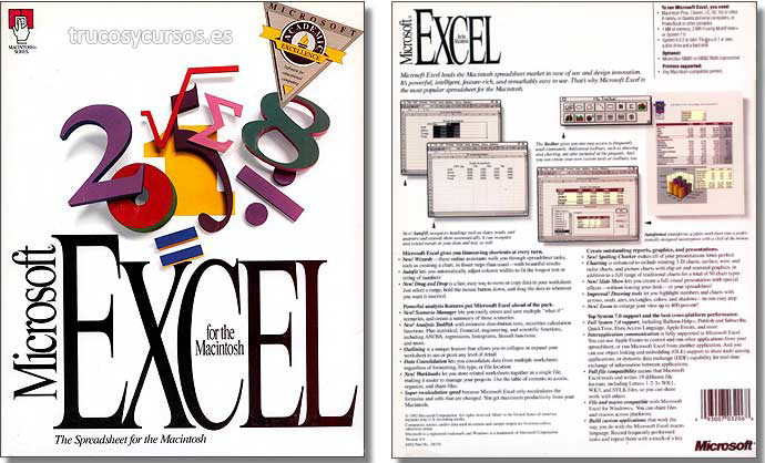 Microsoft Excel v.4 Macintosh