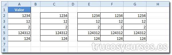 Rango E2:G6 repetido 3 veces de A2:A6.