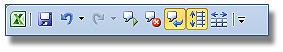 """Leer con voz las celdas Excel: Barra de acceso rápido, Botón """"Leer celdas al entrar """"."""