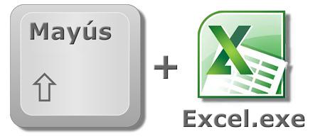 Anular una macro al iniciar Excel: Tecla Mayús pulsada y abrir Excel.