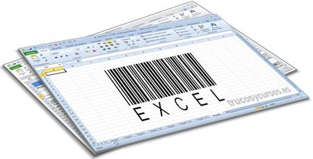 """Código de barras en Excel (Bar-Code 39) de los caracteres """"EXCEL"""""""