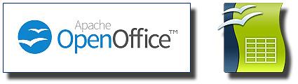 Excel y Apache OpenOffice Calc: Logotipo OpenOffice y Logotipo Calc