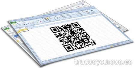 Código de barras bidimensional QR en Excel
