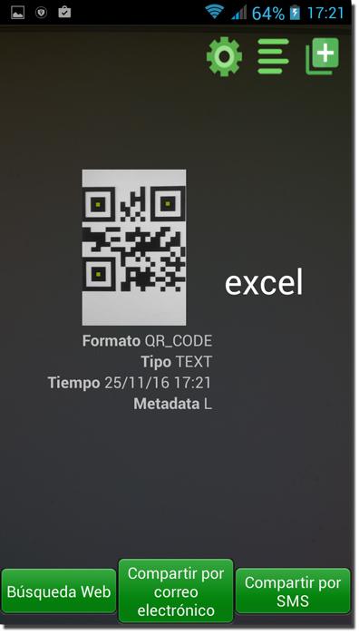 Captura desde el móvil el código QR