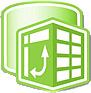 Logotipo de PowerPivot para Excel 2010.