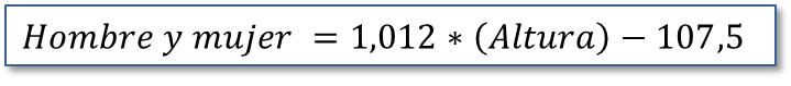 El peso ideal con Excel: Fórmula método Travia
