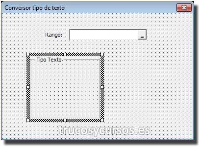Control marco insertado en el formulario