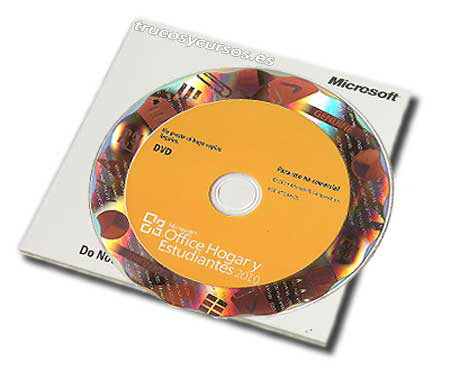Mi Excel de Office es legal: Microsoft Office 2010 para Windows, soporte DVD