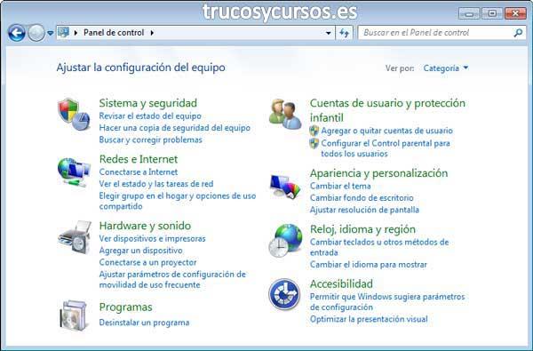 Escribir en otro idioma en Excel con el teclado español: Panel de Control Windows