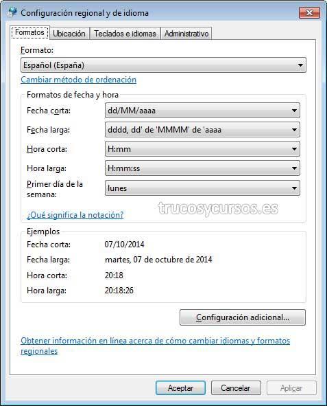 Escribir en otro idioma en Excel con el teclado español: Configuración de idioma, formato