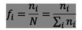 Frecuencia relativa en Excel: fi=ni/N