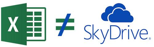 Excel 2013 frente Excel Web App (OneDrive): Excel 2013 diferente de SkyDrive