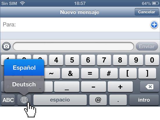 Proceso de cambio del idioma de teclado predeterminado iPhone