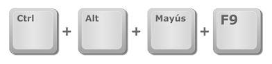 Todo sobre las teclas de función en Excel (Atajo de teclado) Control+Alt+Mayúscula+Función