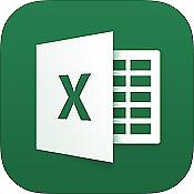 Logotipo Microsoft Excel para iPad