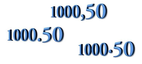 El separador decimal en Excel