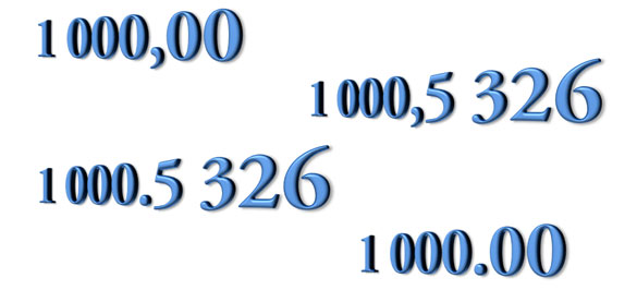 El espacio como separador de mil en Excel