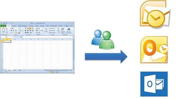 Importar contactos de Excel a Outlook