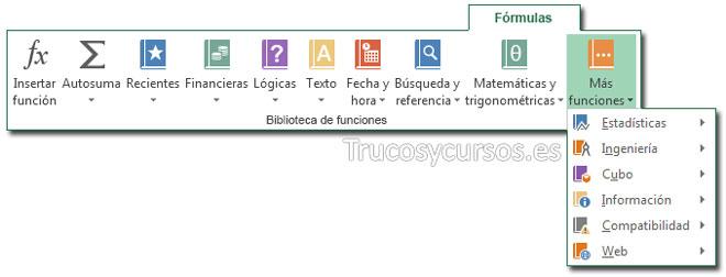 Biblioteca de funciones: Nuevas funciones en Excel 2013