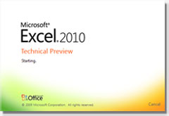 Cuadro de diálogo: Acerca de Microsoft Excel 2010 versión 14.0.