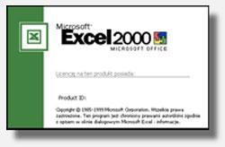 Cuadro de diálogo: Acerca de Microsoft Excel 2000 versión 9.0.