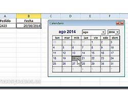 Calendario en celda Excel