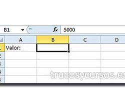 Formato de celda que oculta el valor en Excel