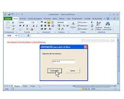 Contraseña de apertura con intentos en Excel