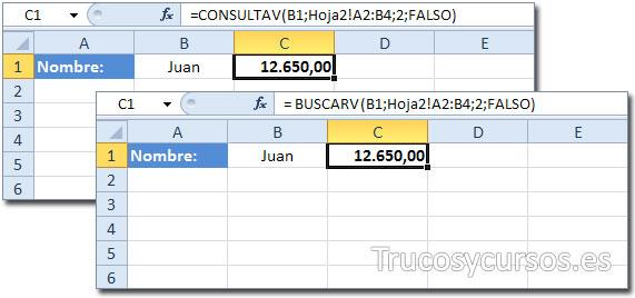 Los grandes fracasos de Excel: Función BUSCARV y equivalente CONSULTAV