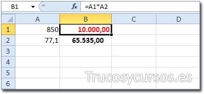 Los grandes fracasos de Excel: Producto con resultado 65.535