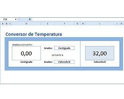 Conversor de temperatura en Excel