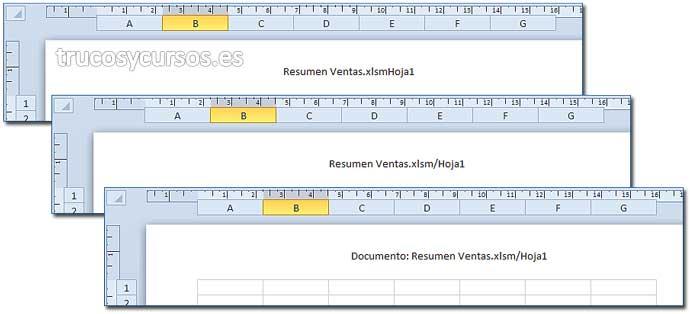 Texto en encabezado o pie de página en Excel: Encabezados personalizados