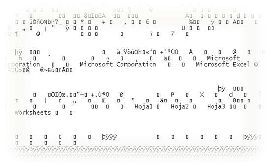 Archivo BIFF (Binary Interchange File Format) de Excel